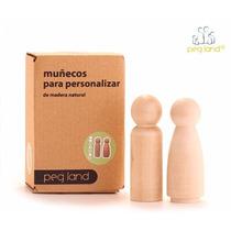 Pegduo 2 Muñecos Madera Hombre/mujer (reposición)
