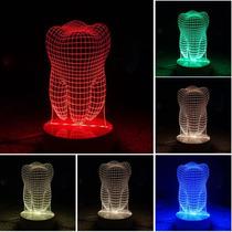 Lampara Luz Led Colores Rgb Muela 3d Dentista
