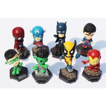 Kit 8 Miniaturas Dos Vingadores E Da Liga Da Justiça