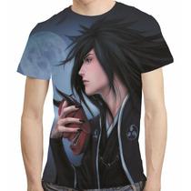 Camisa Anime Naruto Camiseta Madara Akatsuki - Estampa Total