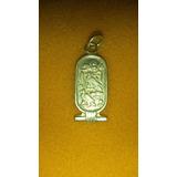 Pingente Kartouche Simbolos Egipcios Em Prata Clara