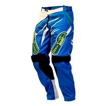 Calça Infantil Trilha Motocross Pro Tork Insane 3 - Azul