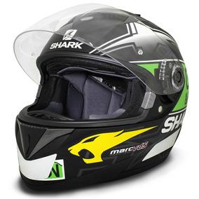 Capacete Moto Shark S700 Scott Redding Kgy Preto Verde