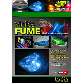 Vinilo Fume Negro Oracal P Faros Autos/motos Tuning Optica