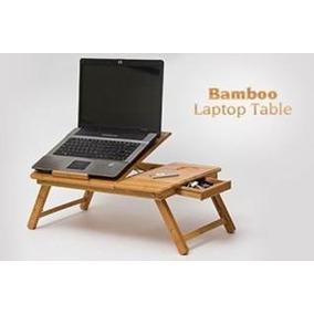 Mesa De Bambu Con Ventilador Para Laptop De 10 Hasta 17