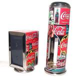 Kit Porta Canudo C/ Guardanapo Em Alumínio Estampa Coca-cola