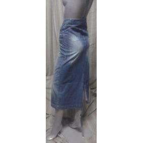 Vintage Pollera Larga Vaquero - E Land Jeans Talle 36