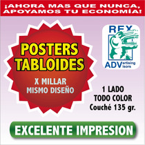 1000carteles Posters Tabloide Papel Impreso De Calidad E-gra