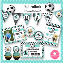 Kit Imprimible Futbol