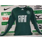 Camisa Palmeiras adidas Manga Longa 2010 Frete Grátis