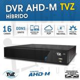 Dvr Stand Alone Tecvoz Tvz 16 Canais Ahd-m Híbrido 3 Em 1