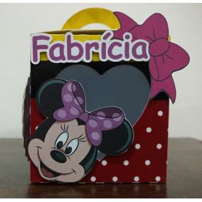 10 Caixas Personalizadas Minnie Com Detalhes Em Scrap