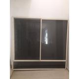 Ventana Aluminio 2 Anodizado Color Crema Vidrio Filtraso