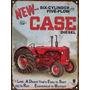 Cartel Chapa Publicidad Antigua Tractor Case A029