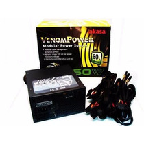 Fonte Atx Real 550w Pc Gamer 24 Pinos Sata Akasa Venom Power