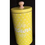 Lata Amarilla 20x10 Con Tapa Dice Knorr Nueva Impecable