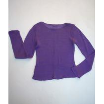 Precioso Sweaters Morado Mujer!