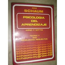 Serie Schaum, Psicologia Del Aprendizaje, Arno Wittig 1982