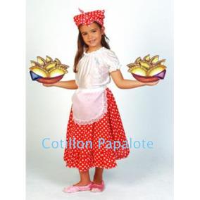 Disfraz Vendedora Ambulante Empanadas Negrita Candombera