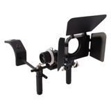 Dslr Video Shoulder Rig Profesional+follow Focus Matte Box