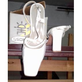 Casi Nuevos! Zapatos Blancos Para Casamiento O 15 Años