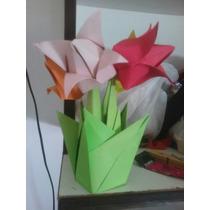 Tulipanes.jardin De Tulipanes. Origami