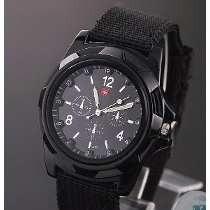 Relógio Masculino Black Militar Gemius Army E Feminino Retrô