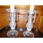 Par De Veladores 32 Cm. Altura - Cristal - $ 950 El Par