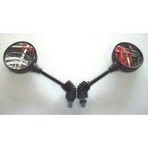Espelho Retrovisor Mini Convexo Dobrável Motocicleta Honda