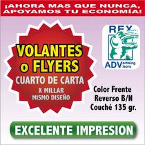 1000 Volantes Mil Flyers Flayer Un Cuarto 1/4 Todo Color