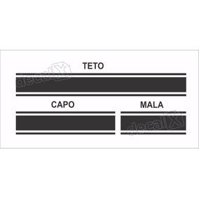 Kit Adesivo Faixa Capo, Teto E Mala Nissan March Imp22