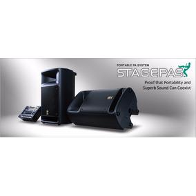Combo Cornetas Y Consola Yamaha Stagepass 300 Portatil