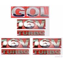 Emblemas Gol 16v Turbo + Laterais 16v Turbo - G3 Geração 3