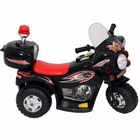 Moto Elétrica Infantil Policia Melhor Preço 6v Preta