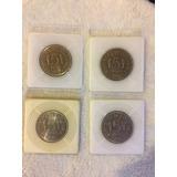 Lote De 4 Monedas Conmemorativa De 5 Pesos Colombia 1971