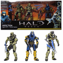Set 3 Figuras + Accesorios Halo Reach Infection Mcfarlane