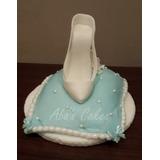 Adorno Para Torta, Zapato Cenicienta, Porcelana Fria