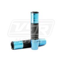 Manopla Esportiva Sem Peso Azul Moto Honda Cb 450