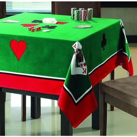 Toalha Para Mesa Quadrada Jogos Poker Truco Cartas Baralho