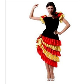 Fantasia Feminina Adulto Dançarina Espanhola Importada Envio