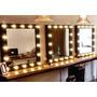Espelho Camarim, Retro, Decoração, Luminoso, Salão, Beleza