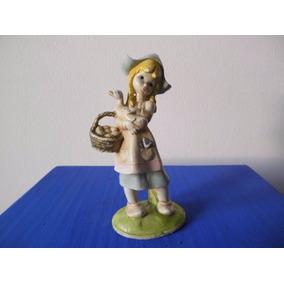 Muñequita Holandesa Con Ganso - Imitación Porcelana