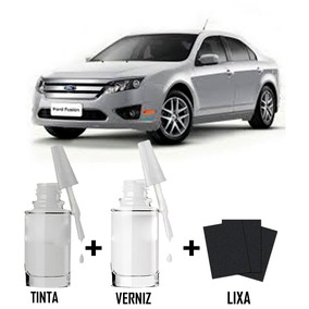 Tinta Tira Risco Automotivo Ford Fusion Cor Prata