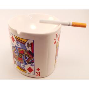 Cenicero Cartas De Poker Ovalado