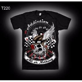 Camiseta Moto Harley Indian Skull Helmet Old School Ad Brand