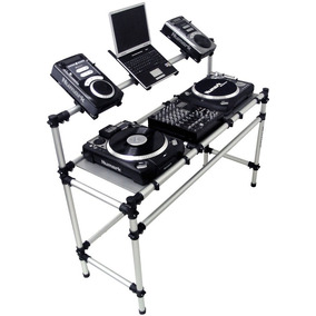 Rack Para Technics Mk2 Ou Audio Technica, 1 Mixer & 2 Cdjs