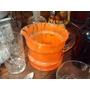 Jarra De Cristal De Murano Naranja 12 Cm X 14 Cm Diametro