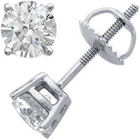 Broquel Para Hombre .25 Carats Diamante De Grafito Oro 14k
