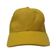 Gorras Unicolor Con Broche Caimán - Amarillo
