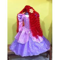 Vestido Disfraz De Princesa Ariel. La Sirenita. Paquete.